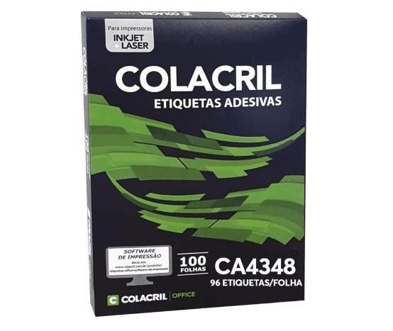 Etiqueta Adesiva A4 Ca4348 31 X 17 mm c/ 100 folhas - Colacril