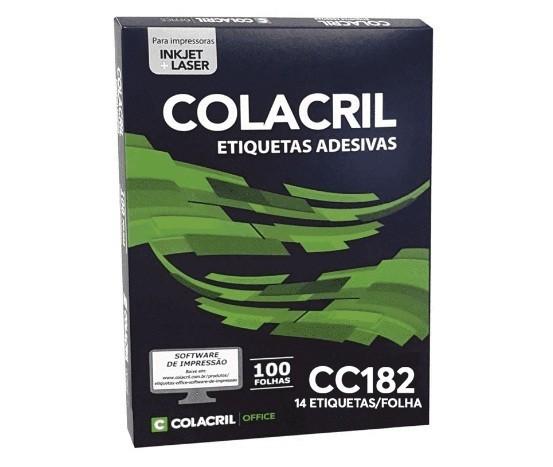 Etiqueta Adesiva Carta CC182 33,9 x 101,6 mm c/ 100 Folhas - Colacril