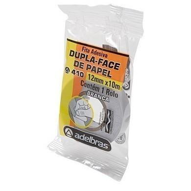 Fita Adesiva Dupla-Face Acrilico Transparente 12mm x 10m - Adelbras