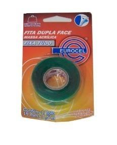 Fita Dupla Face 19mm x 1,5m Massa Acrílica - Eurocel
