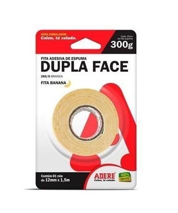 Fita Dupla Face de Espuma 12mm com 1,5 Metros - Adere