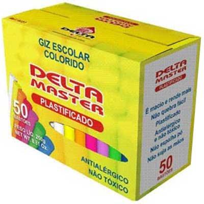 Giz Plastificado Sortido (50 Unidades)