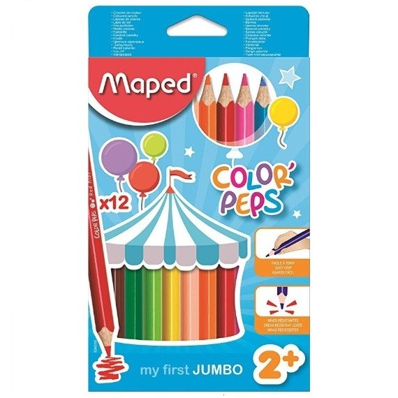 Lápis de Cor - 12 Jumbo Peps Maxi