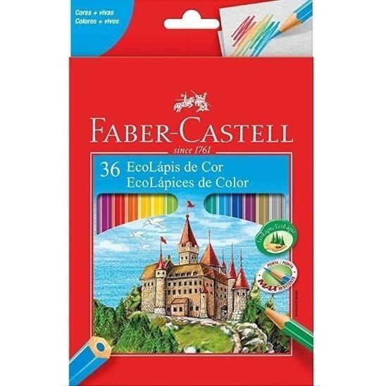 Lápis de Cor Sextavado Ecolapis 36 Cores (4 Unidades) - Faber-Castell