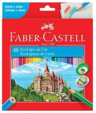 Lápis de Cor Sextavado Ecolapis 48 Cores (3 Unidades) - Faber-Castell