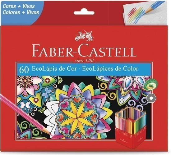 Lápis de Cor Sextavado Ecolapis 60 Cores (1 unidade) - Faber-Castell