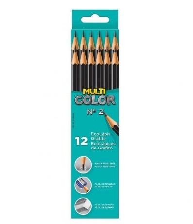 Lápis Preto Ecolápis Grafite Sextavado Multicolor pacote com 12 caixas - Faber-Castell