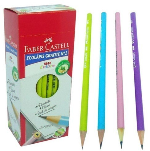 Lápis Preto Max Colors - Faber-Castell (72 Unidades)