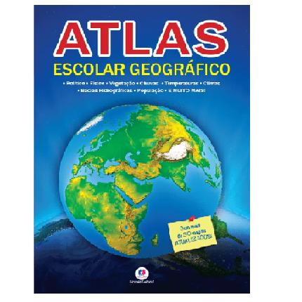 Livro - Atlas Escolar com 32 Páginas