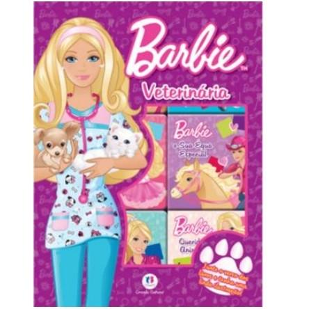 Livro - Box Barbie Veterinária com 6 Mini Livros