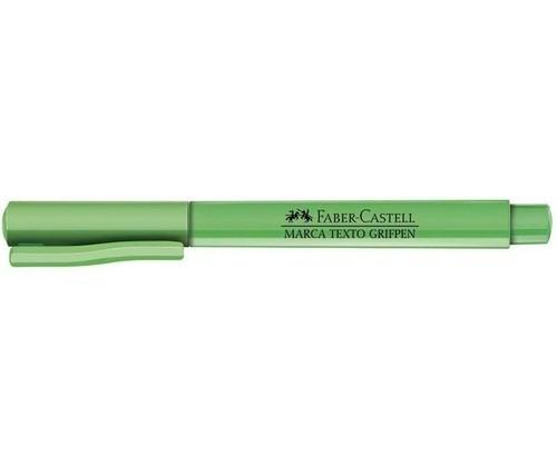 Marcador de Texto Grifpen VERDE - Faber-Castell (12 Unidades)