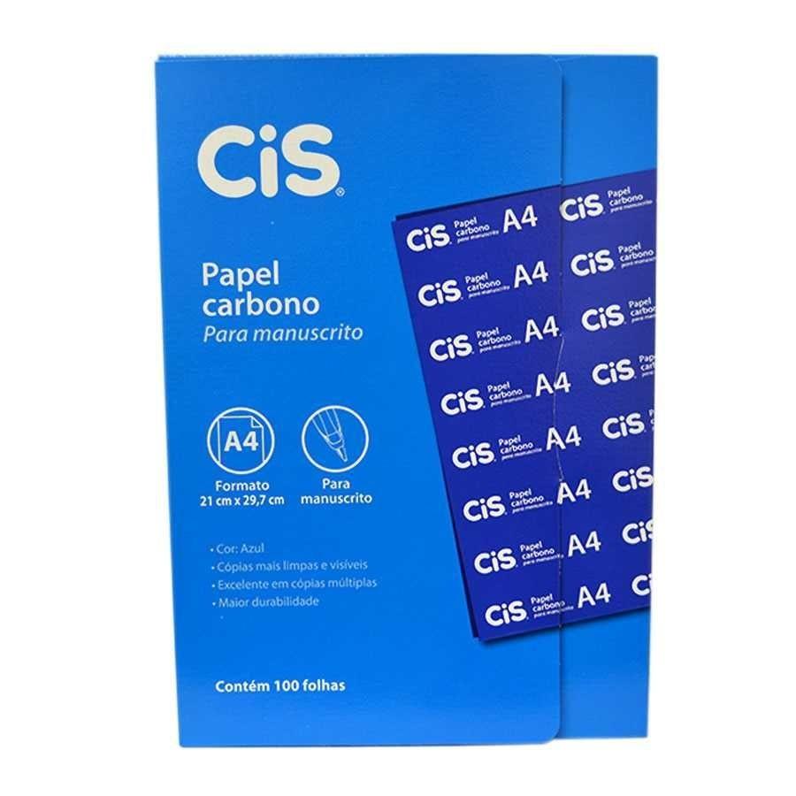 Papel Carbono A4 AZUL - 100 Folhas - Cis