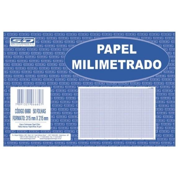 Papel Milimetrado - 50 Folhas
