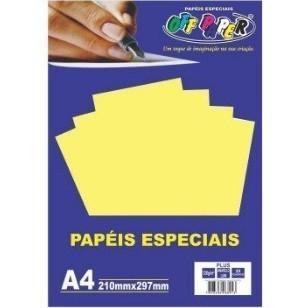 Papel Plus A4 Amarelo Lumi 120g - Off Paper