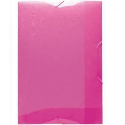 Pasta Aba com Elástico 1/2 Ofício PP sem Lombo ROSA Pink - Dello