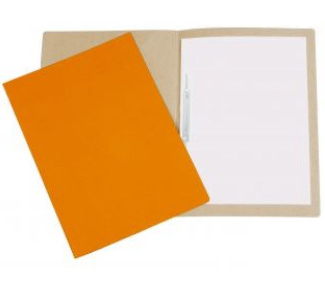 Pasta Cartão Duplex com Grampo LARANJA - Polycart