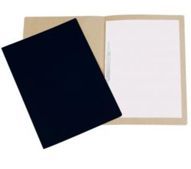 Pasta Cartão Duplex com Grampo PRETA - Polycart