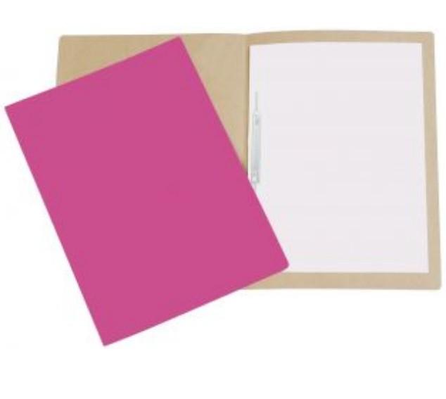 Pasta Cartão Duplex com Grampo ROSA - Polycart