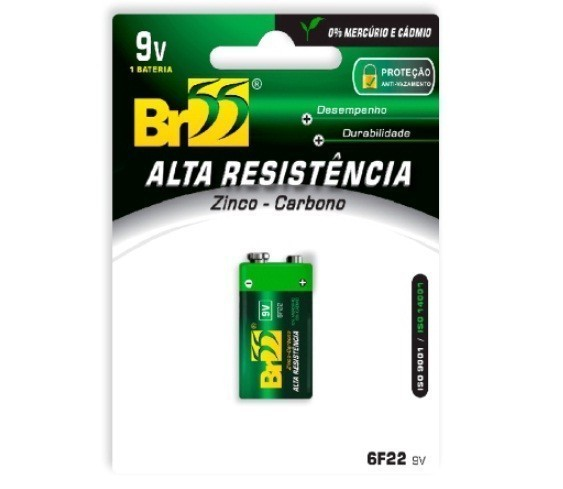 Pilha Bateria 9V 6F22 - BR55