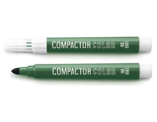 Pincel Color Verde Avulso - Compactor (12 Unidades)