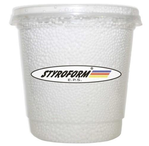 Pote de Pérolas de Isopor P300 750 ml BRANCO - Styroform