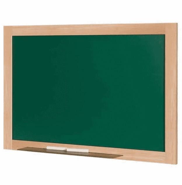 Quadro Escolar 80 x 60cm VERDE - Cortiarte