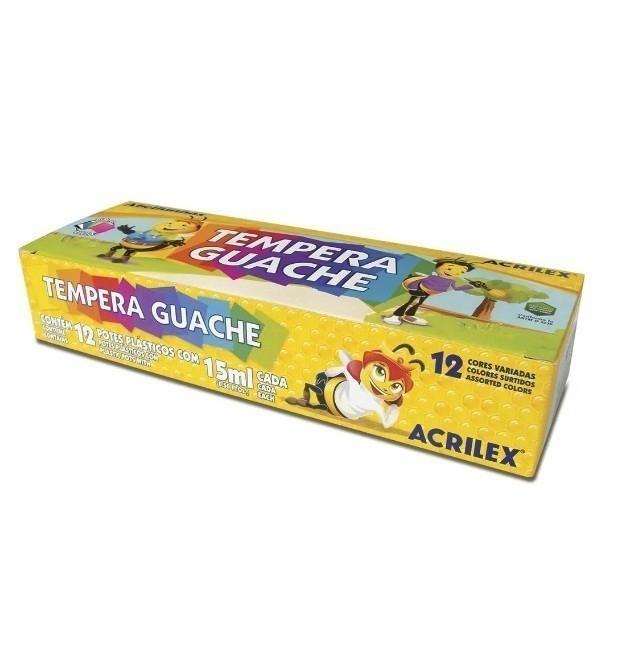 Tinta Guache 12 Cores Sortidas 15ml - Acrilex