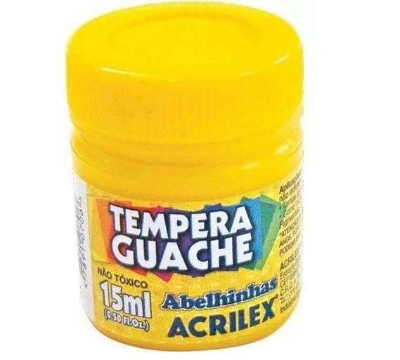 Tinta Guache AMARELO 15ml 505 - Acrilex