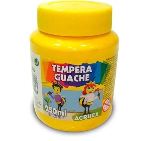 Tinta Guache AMARELO 250ml - PT 03 - 505 - Acrilex