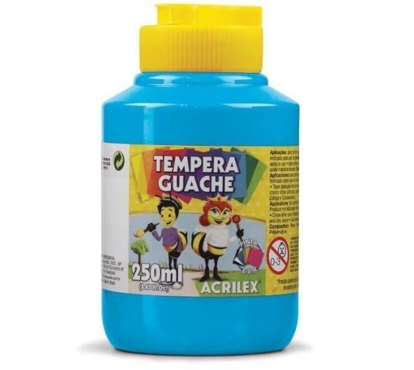 Tinta Guache AZUL CELESTE 250ml - PT - 503 - Acrilex