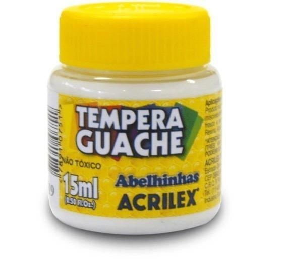 Tinta Guache BRANCO 15ml 519 - Acrilex
