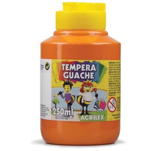 Tinta Guache LARANJA 250ml - PT 03 - 517 - Acrilex