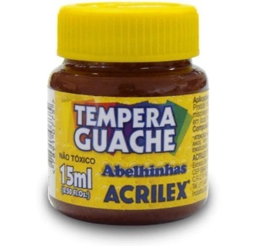 Tinta Guache MARROM 15ml 531 - Acrilex