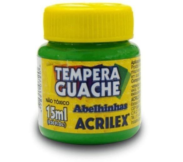 Tinta Guache VERDE FOLHA 15ml 510 - Acrilex