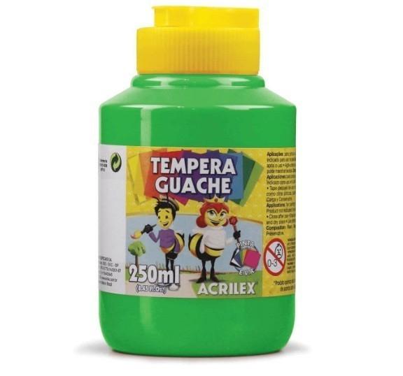 Tinta Guache VERDE FOLHA 250ml - PT 03 - 510 - Acrilex