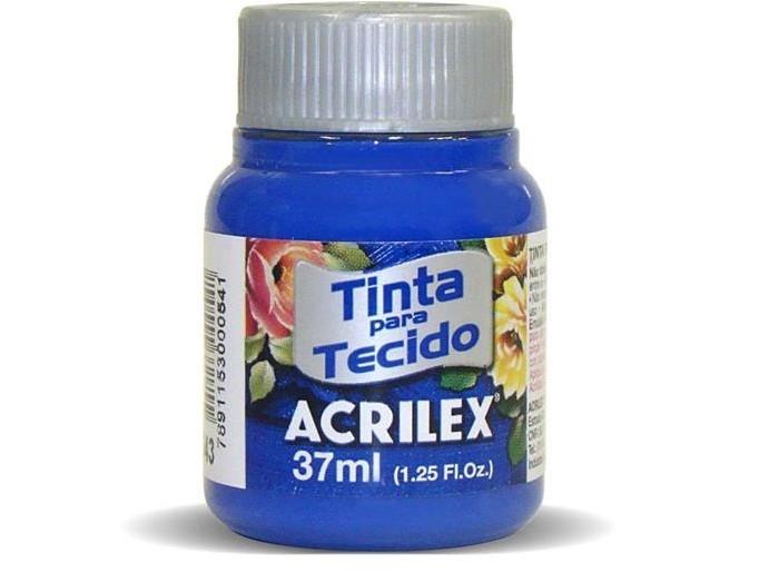 Tinta para Tecido Fosca AZUL ULTRAMA 37ml 543 - Acrilex
