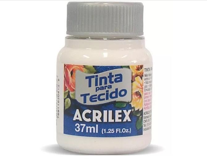 Tinta para Tecido Fosca INCOLOR CLARA 37ml 500 - Acrilex