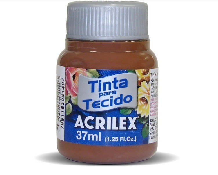 Tinta para Tecido Fosca MARROM 37ml 531 - Acrilex
