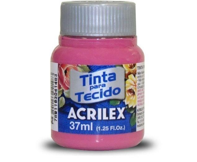 Tinta para Tecido Fosca ROSA ESCURO 37ml 542 - Acrilex