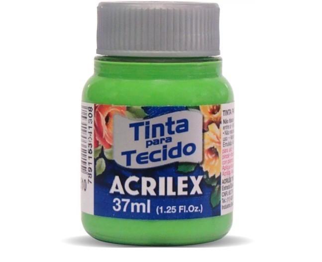 Tinta para Tecido Fosca VERDE FOLHA 37ml 510 - Acrilex