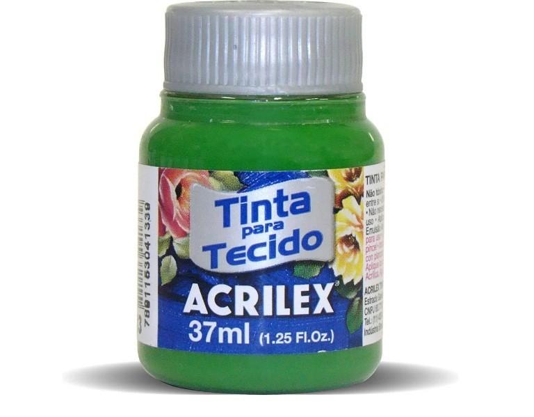 Tinta para Tecido Fosca VERDE MUSGO 37ml 513 - Acrilex