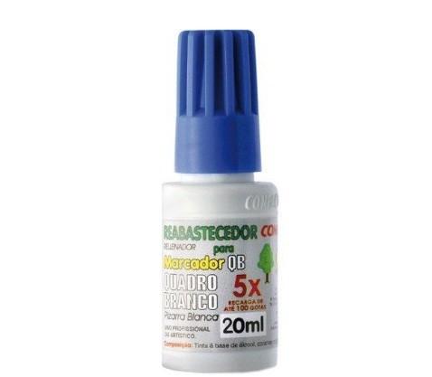 Tinta Reabastecedor 20 ml Marcador Quadro Branco AZUL - Compactor (12 Unidades)