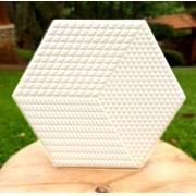 Piso e Revestimento Cerâmico PIASTRELLE HEX-BIANCO | 17,5x20cm| vendido por peça