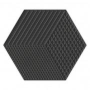 Piso e Revestimento Cerâmico PIASTRELLE HEX-NEGRO | [17,5x20cm] |vendido por peça