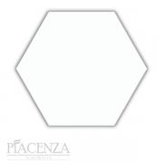 Piso e Revestimento PEÇA HEXAGONAL BRANCO BRILHANTE CERAL   23X20cm   *valor da peça