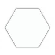 Piso e Revestimento PEÇA HEXAGONAL BRANCO BRILHANTE CERAL | 23X20cm | *valor da peça