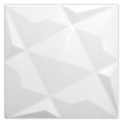 Revestimento Cerâmico Piacenza DIFUSE BIANCO ACETINADO RELEVO 3D | 20,5x20,5cm | *valor da peça