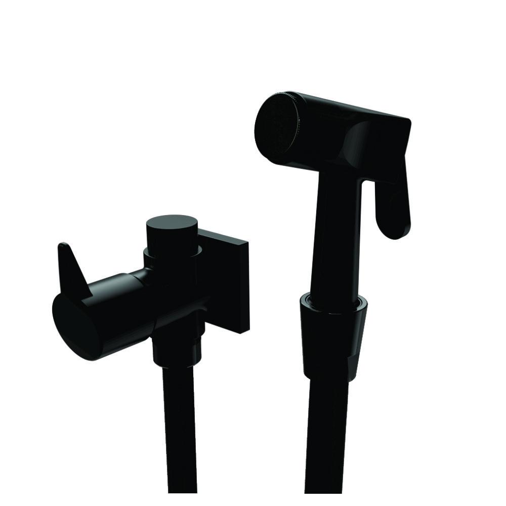 Ducha Higiênica com Derivador Linha Vite Black Preto Fosco | ROMAR METAIS