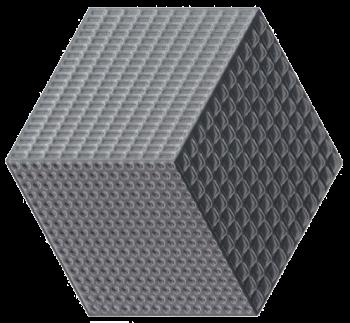 Piso e Revestimento Cerâmico PIASTRELLE CUBO 3D GRIS | 17,5x20cm | vendido por peça