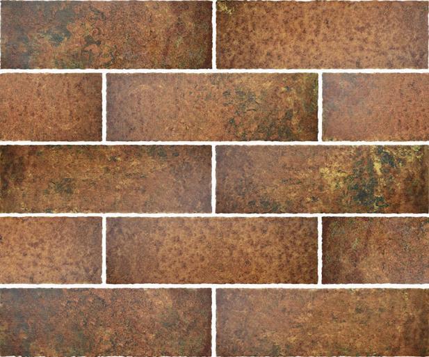 REVESTIMENTO CERÂMICO PIACENZA LONDON TERRACOTA | [7,65x23,7cm] | [12 FACES] [*valor CAIXA COM 0,72m²]